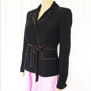 Nipon Boutique Jackets & Coats - Nipon Boutique Scalloped edges with belt blazer